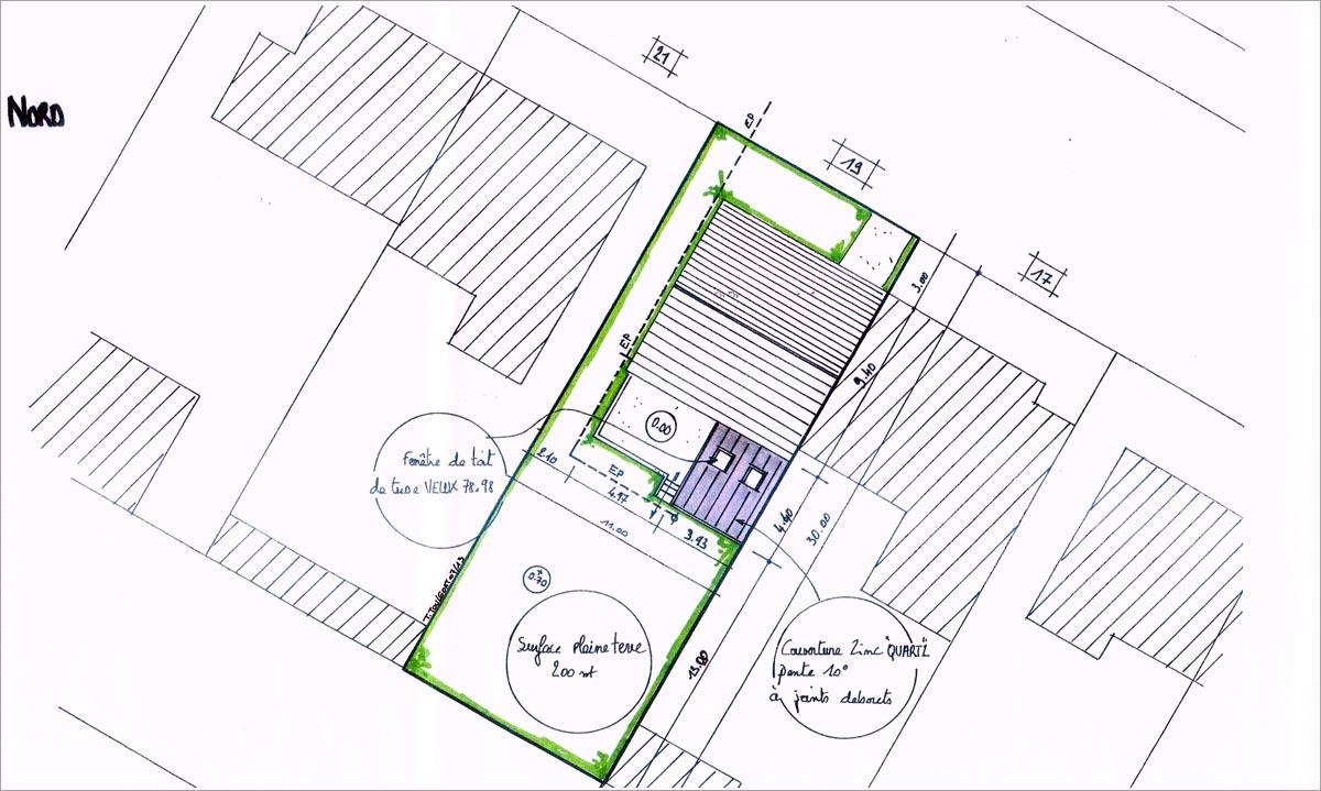 Maison individuelle plan de masse plan de masse