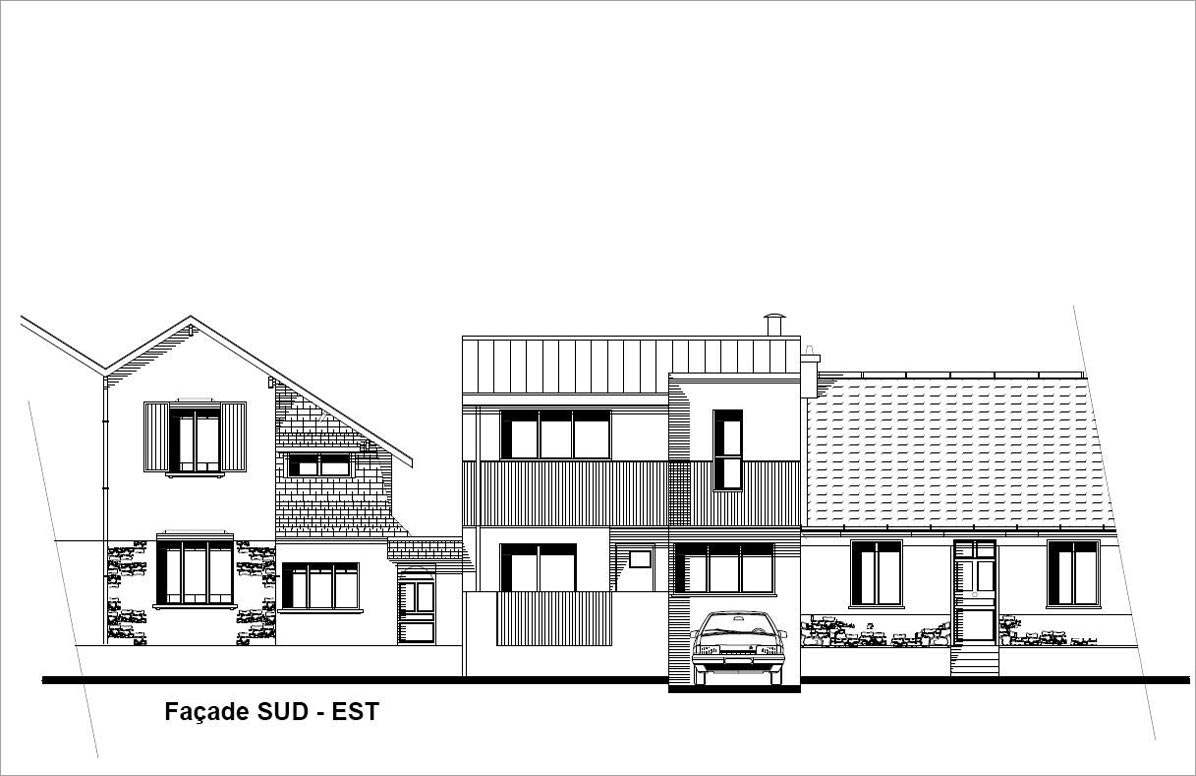 Plan maison construction nantaise maison moderne - Estimation construction maison ...